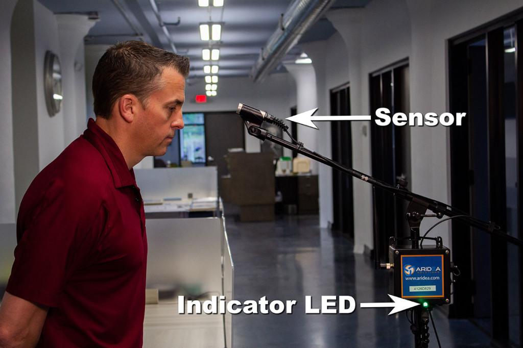 устройство Libelium для мониторинга температуры у сотрудников
